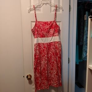 Red & white spaghetti strap dress sz 12